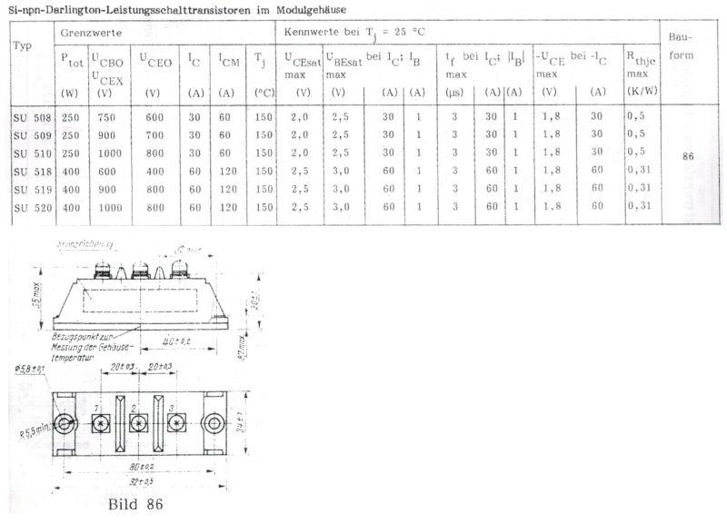 Specification of transistor
